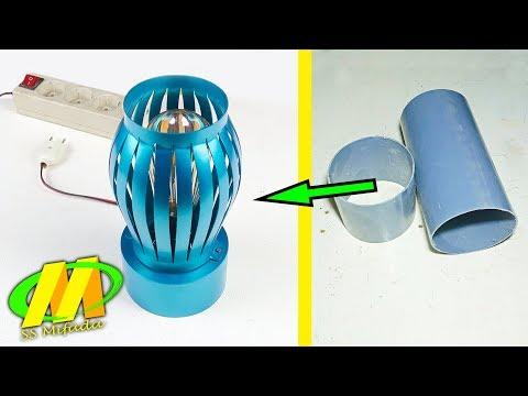Tutorial lengkap cara membuat lampu hias dari pipa pvc