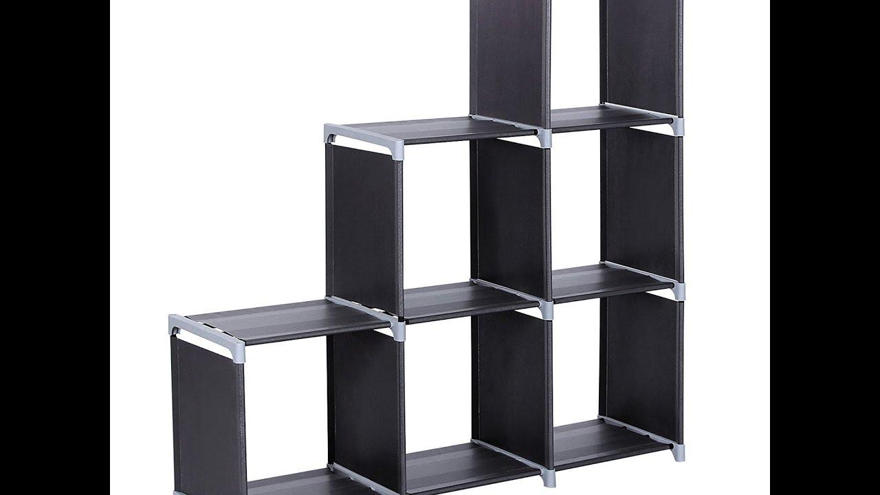 Review Songmics 3 Tier Storage Cube Closet Organizer