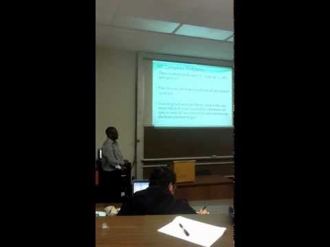 NP Vs P genetic algorithm presentation financial engineering