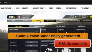FIFA 17 Coin Generator and Hack to get Free FIFA 17 Coins and Points on the Web App