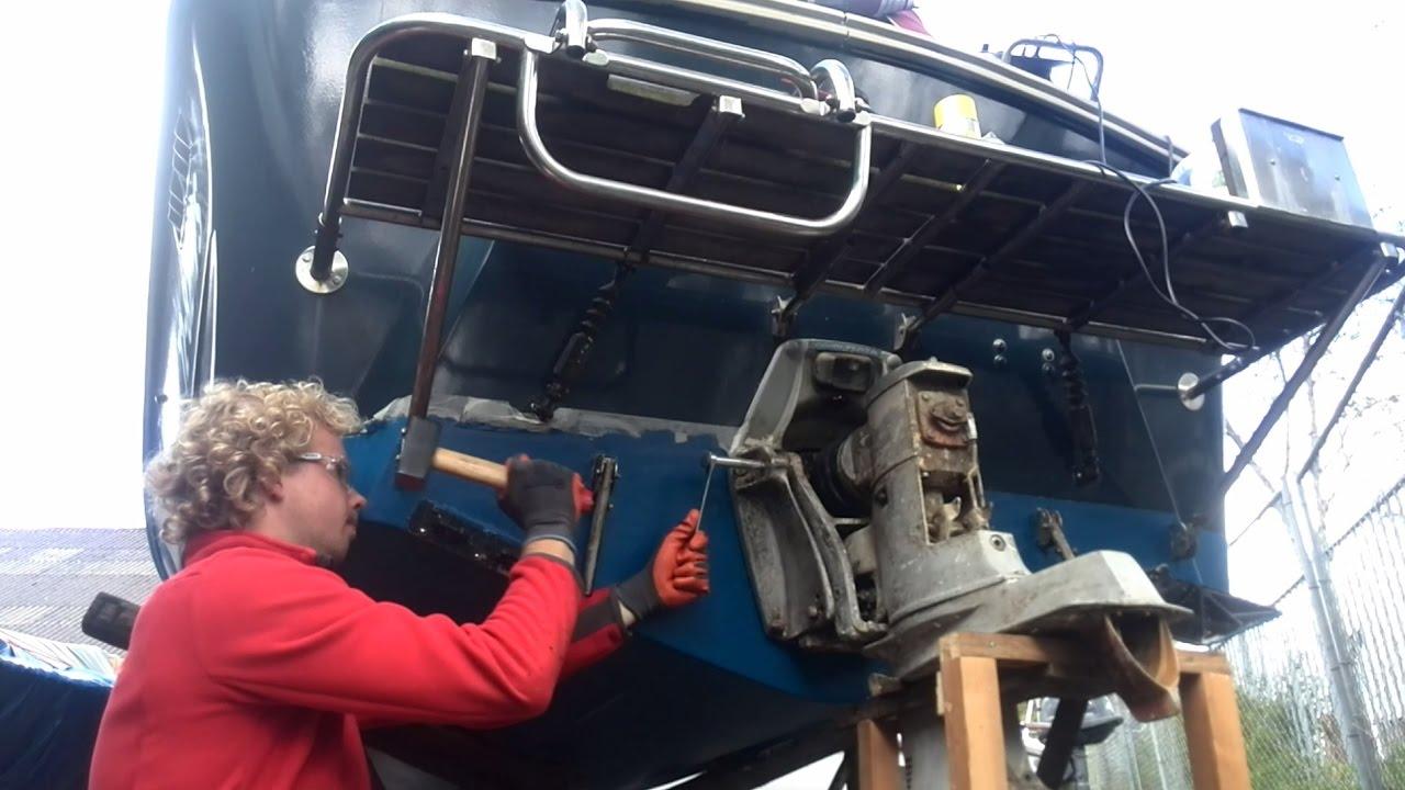 Removing Pivot Pins Volvo Penta 270 280 Drive YouTube