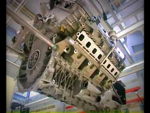 Bugatti 16 Cylinder Engine Veyron Assembly Raw Footage