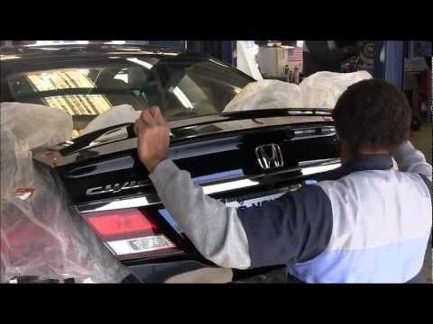 How-To 2013 Honda Civic Deck Lid Spoiler Installation