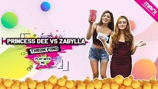 [ HOT GAMES ] THROW PONG  -  PRINCESS DEE VS ZABYLLA!!! YANG KALAH BUKA BAJU!!!