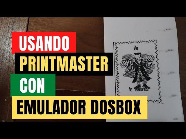 Usando el software Print Master de 1985 en el emulador DosBox para windows 10   Tutorial DosBox