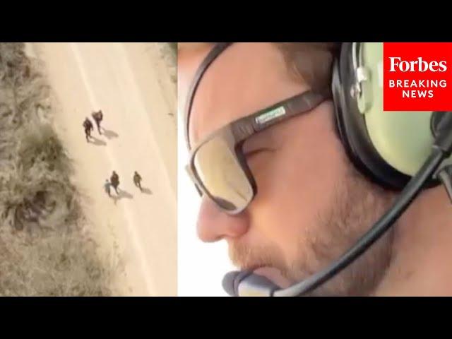 JUST IN: Dan Crenshaw flies over US-Mexico border to witness migrant crossings