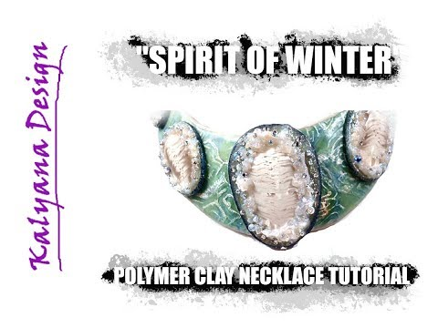 """218 Polymer Clay Tutorial - """"Spirit of Winter"""" - my New Year gift for you"""