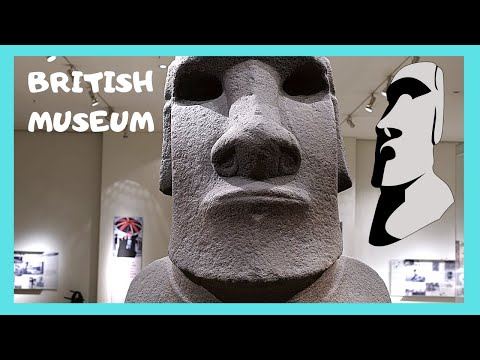 BRITISH MUSEUM: The STOLEN MOAI (STATUE) from EASTER ISLAND (LONDON)