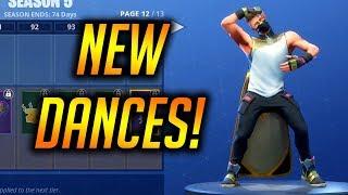 ALL *NEW* SKINS & DANCE/EMOTES SEASON 5! Fortnite Battle Royale
