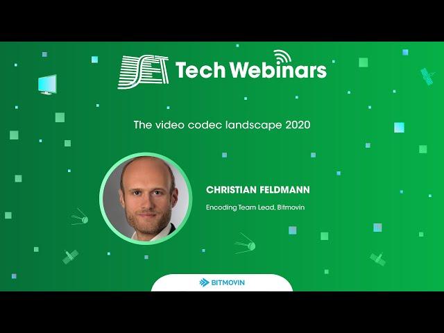 SET Tech Webinars: Melhores Momentos - Bitmovin - The video codec landscape 2020