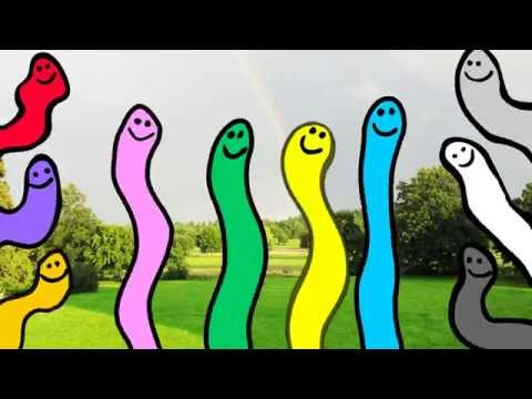 Learn Colors from Wiggly Worms