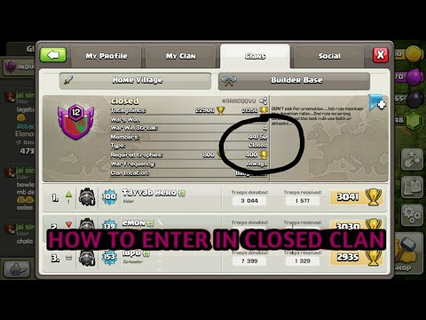 HOW TO ENTER IN CLOSED CLAN 🤔 || By Killer JAI ||