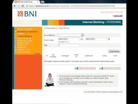 SoftwarePSR.com | Mutasi Rekening BNI