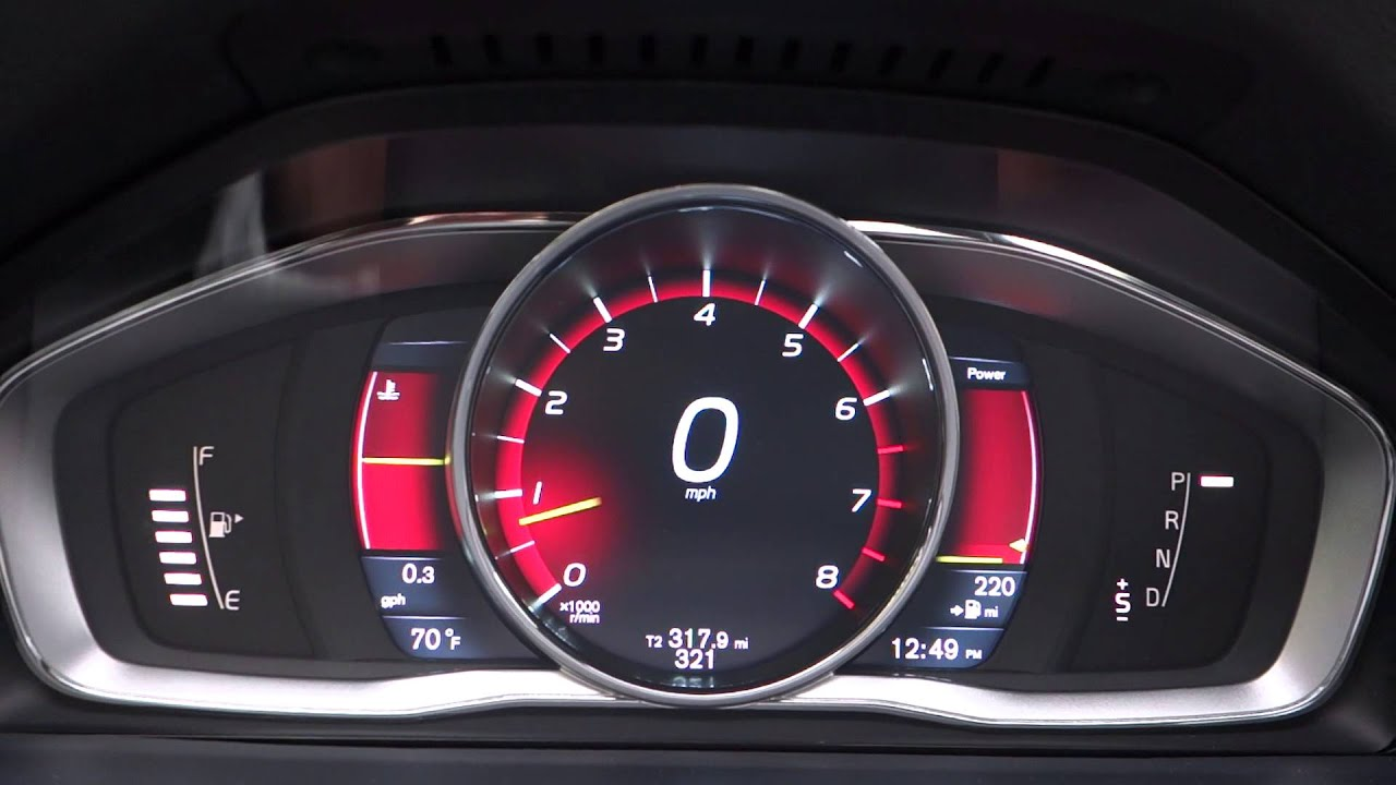 Volvo S60 2014 Digital Dashboard Youtube