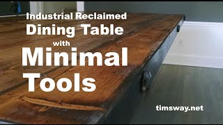 Baixar Industrial Reclaimed Dining Table with Minimal Tools