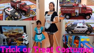 hulyan maya s halloween trick or treat costumes tonka firetruck and police vehicle toys