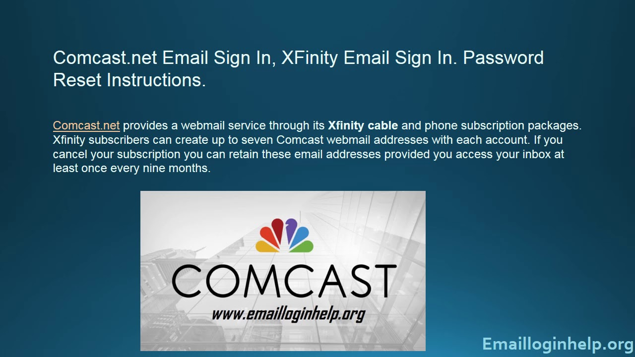 Comcast Net Email Sign In
