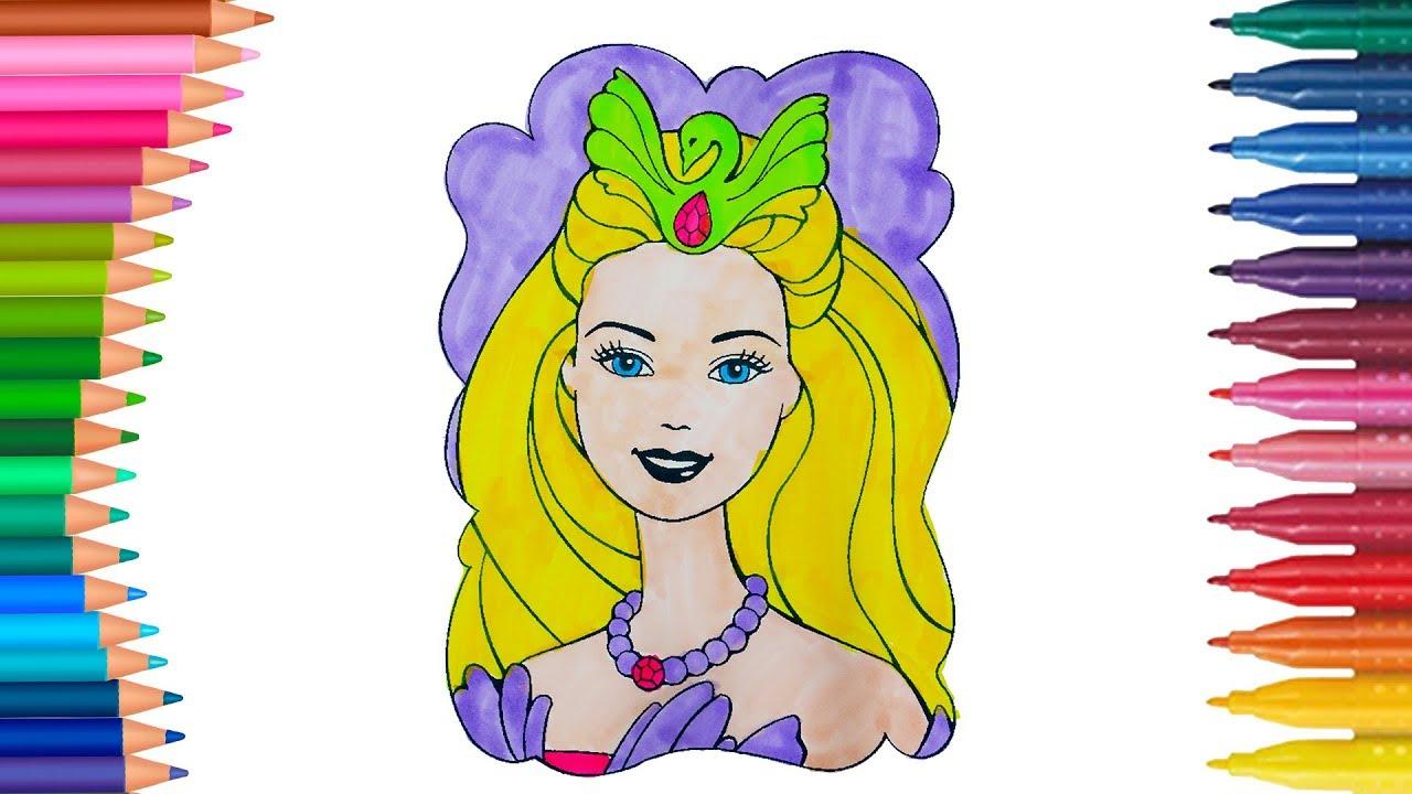 Barbie Kız Bebek Boyama Sayfası Ile Renkleri öğreniyorum Minik