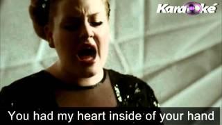 Adele-Roling in the deep lyric (KEARAOKE)