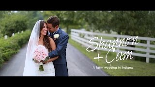 SHANNON + CAM {a wedding at Joseph Decuis Farm in Columbia City, Indiana}