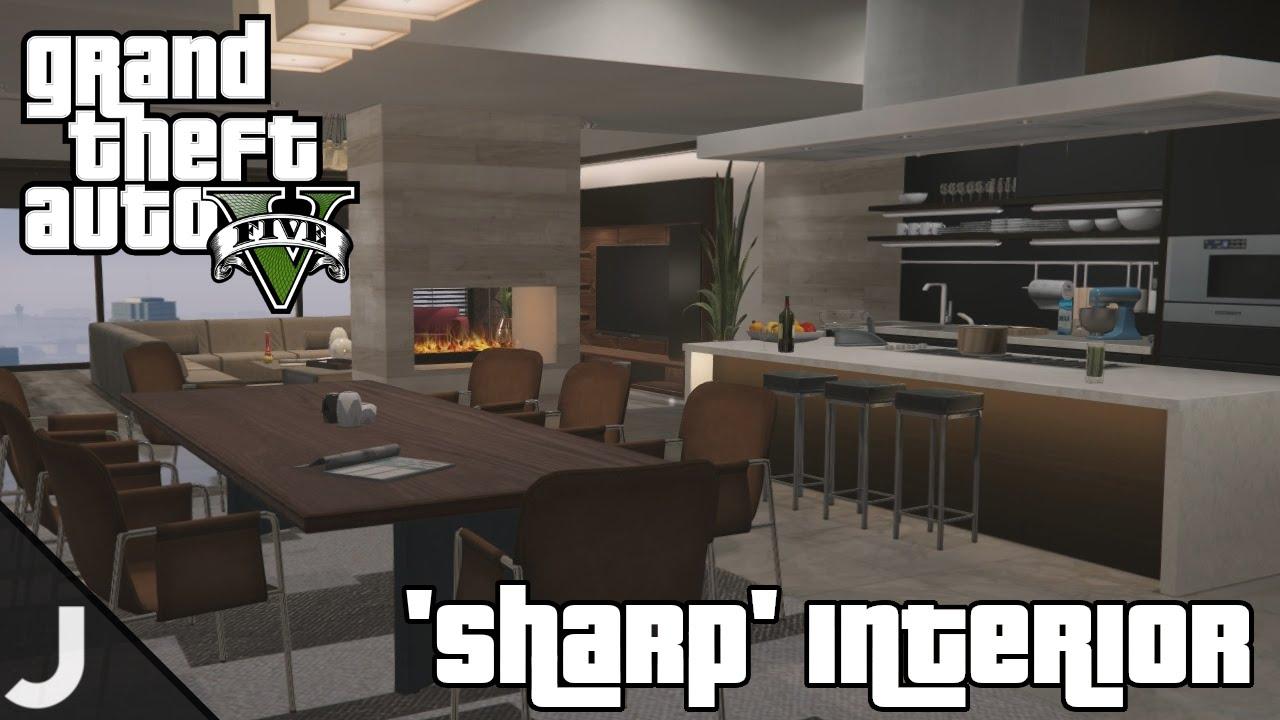 GTA 5 Apartment Interiors - 'Sharp' Interior - High End Apartments Tour!