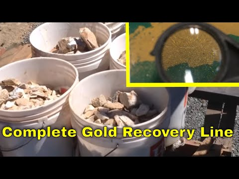 Complete gold recovery processing line for gold ore