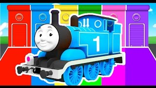 THOMAS TRAIN COLORS for Kids - Cars Learning Educational Video - Bus Superheroes for babies