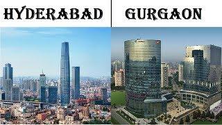 Hyderabad vs Gurgaon  city comparison | Hitec city vs Millennium City
