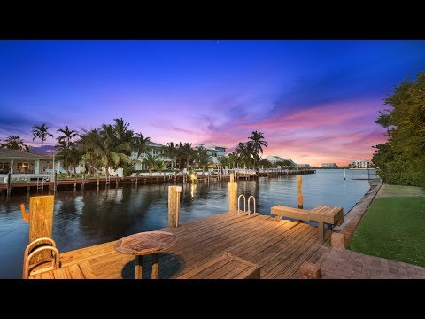 Presenting: 4 Harvard Drive, Lake Worth Lagoon Waterfront Home For Sale
