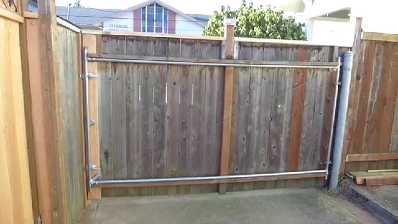 Diy Rolling Fence Gate 14 Custom Cedar Driveway Swing Gate