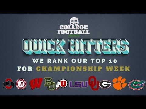 College Football Top 10 Rankings - Championship Week - Utah & Oklahoma Knocking