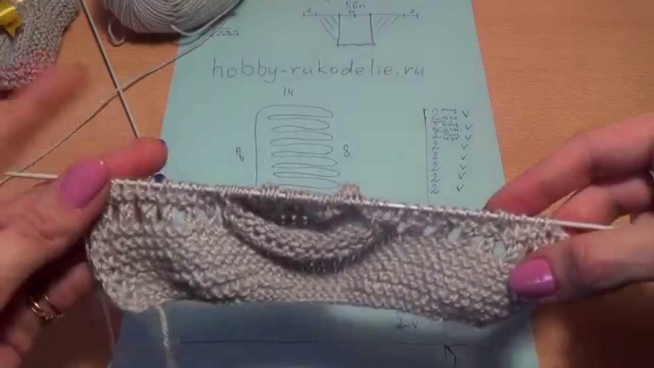 пинетки схема вязания спицами юлия долгова