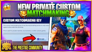Fortnite 3.5 - 😱 YOU CAN NOW CREATE PRIVATE CUSTOM GAMES?! (Custom Matchmaking lobbies in Fortnite)
