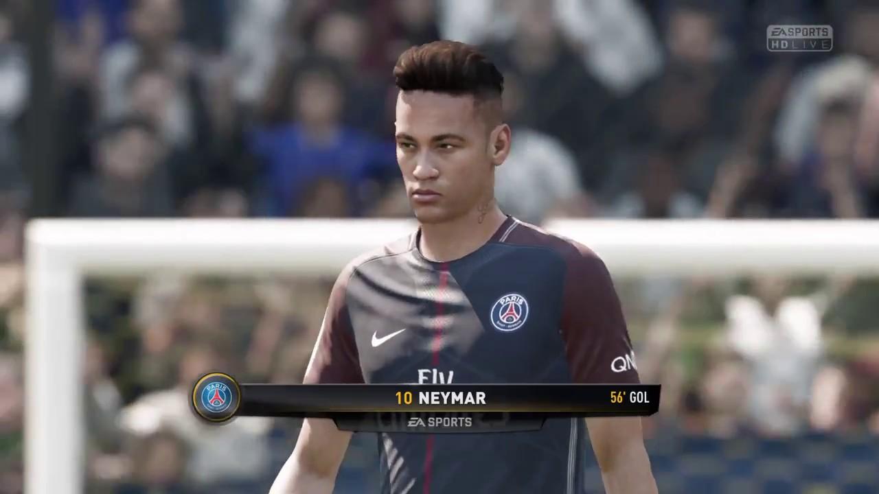 gol do neymar fifa 18 psg vs real madrid