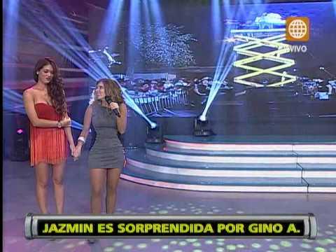 Esto es Guerra: Gino Assereto hizo llorar a Jazmín Pinedo con una romántica sorpresa de cumpleaños