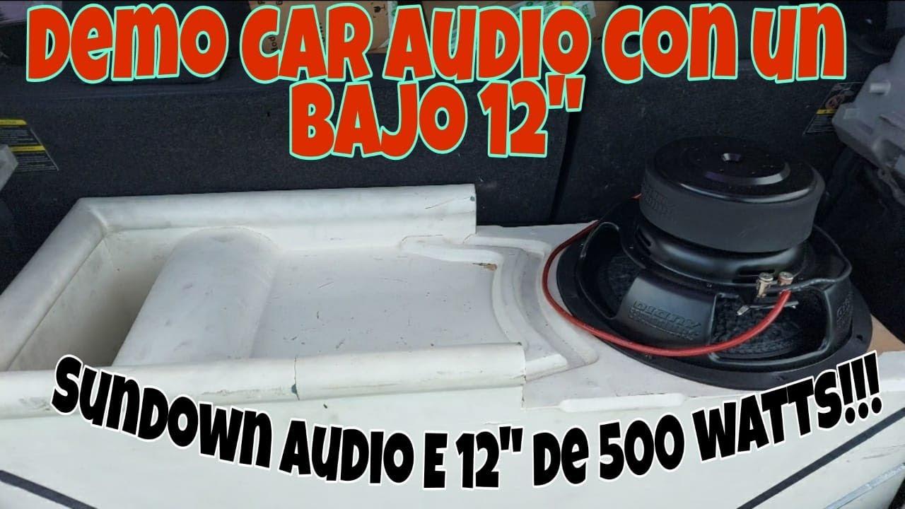 """Prueba de sonido Bajo 12""""   Car audio   Sundown Audio E-12"""
