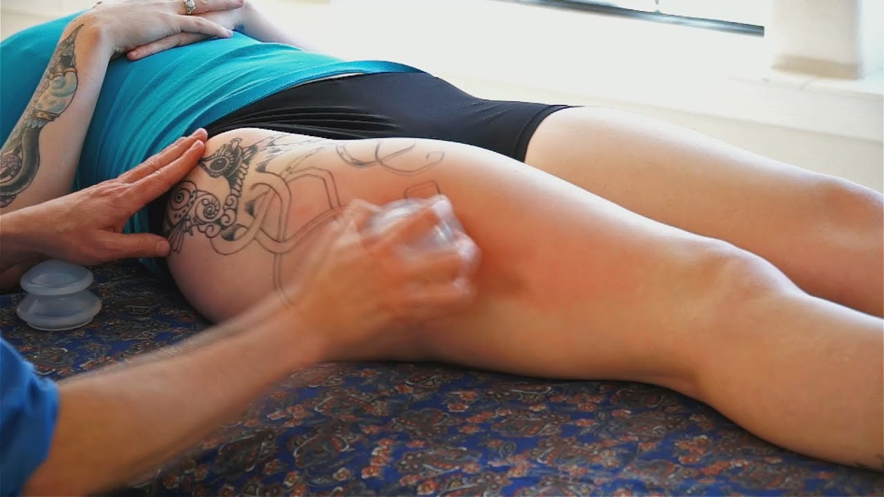 Leg Massage Therapy Techniques  IT Band  Soma Cupping