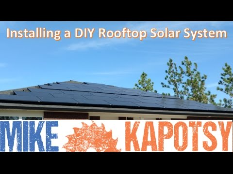 Installing a DIY Rooftop Solar System
