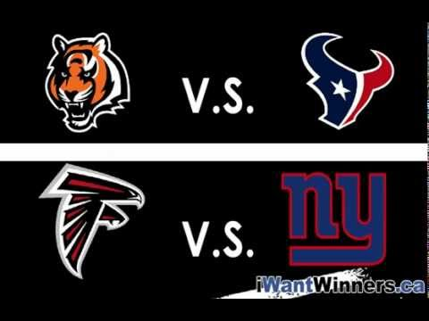 Bengals vs Texans AND Falcons vs Giants Jan 7/8, 2012 NFL Playoffs