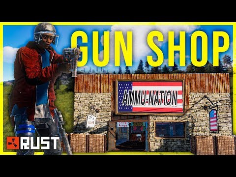 Running a GUN SHOP for CRAZY CUSTOMERS - Rust Shop Series