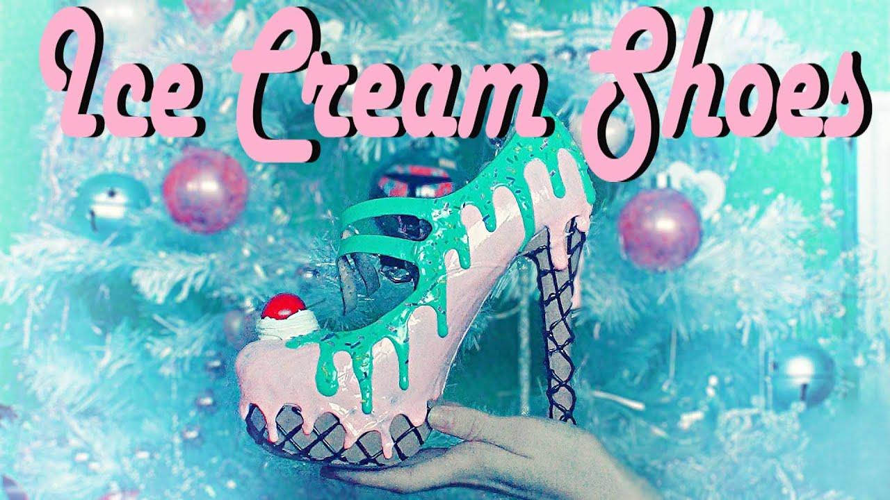 手作りロリータ靴の作り方♡スイーツデコのアイスクリームシューズ編