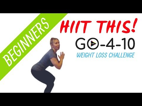 Cardio HIIT WORKOUT | GO-4-10  Weight Loss Challenge