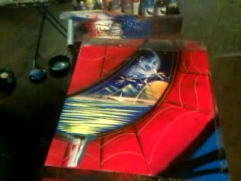 Make Your Own Car >> Amazing Spiderman Spray Paint Art by JC - YouTube