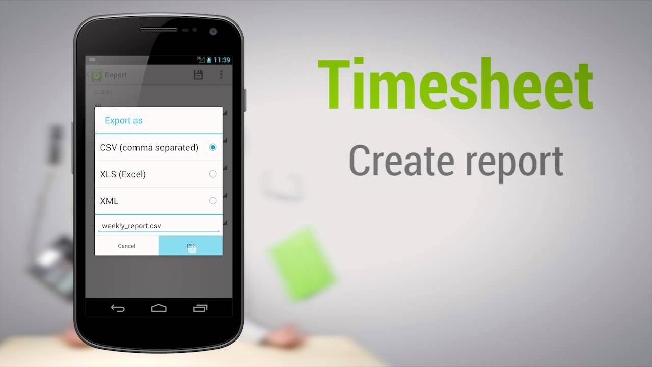 Timesheet Tutorial   android work time tracking   YouTube