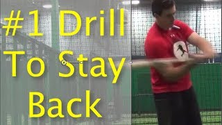 1 drill to stay back in baseball hitting for youth players