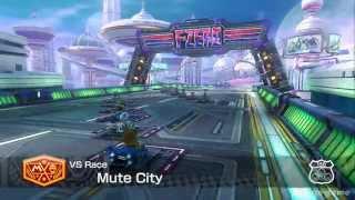 Mario Kart 8 DLC Gameplay -  FZero Mute City Track  [ HD ]
