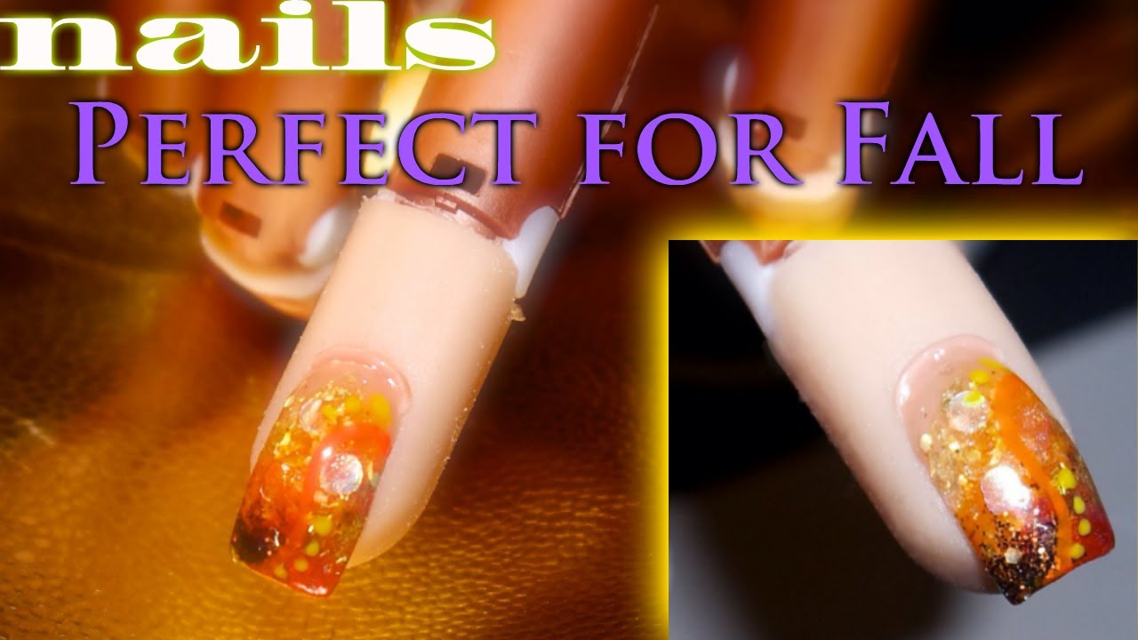 ❃ Acrylic Nails Perfect for Fall ❃ - YouTube
