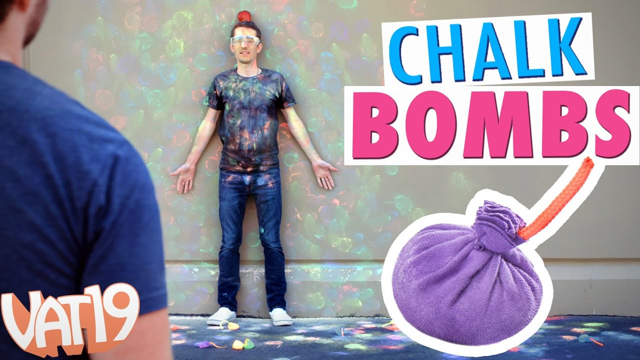 Chalk Bombs: Balls that create colored chalk puffs with