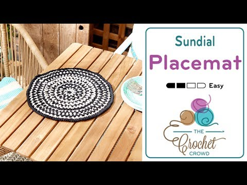 Crochet Placemat Youtube