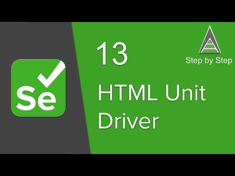 Selenium Beginner Tutorial 13 - How To Use HtmlUnit Driver